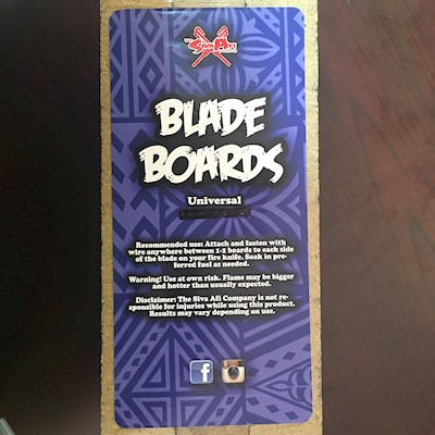 FIRE KNIFE - BLADE BOARDS