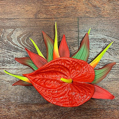 RED ANTHURIUM CLIP