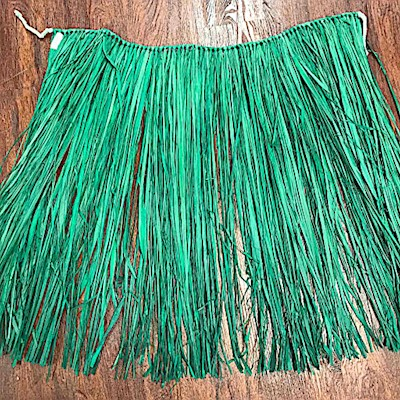 DYED GREEN RAFFIA SKIRT