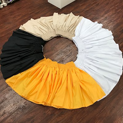 SOLID PA'U SKIRT (ELASTIC BAND)
