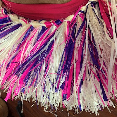 READY MADE COSTUME: MIXED WHITE/PINK/PURPLE BUSTLE HIPBAND