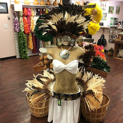 READY MADE COSTUME: NATURAL FEATHER HEADPIECE
