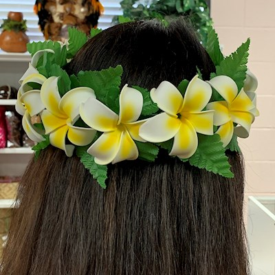 SALE!  YELLOW PLUMERIA LEI PO'O
