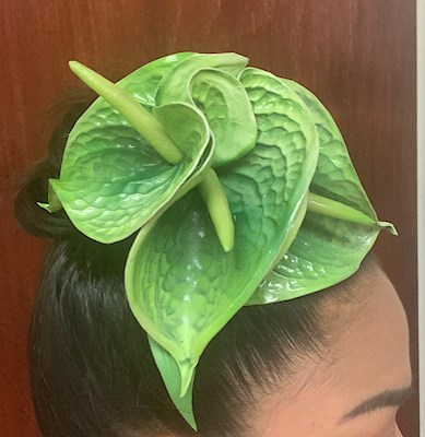 GREEN ANTHURIUM CLIP