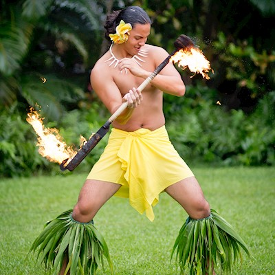 SAMOAN FIRE KNIFE - DOUBLE