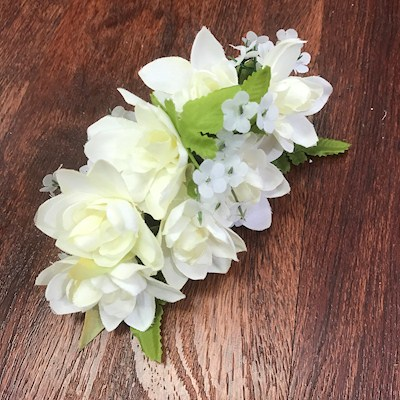 LARGE TUBEROSE HAIRCLIP