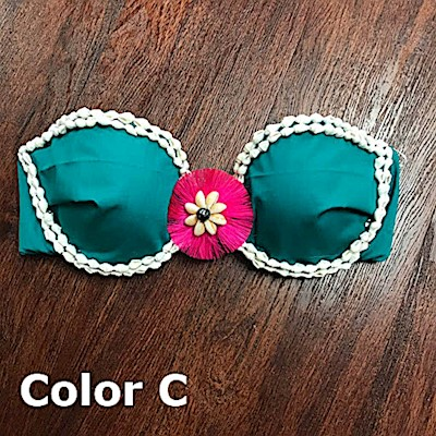 TAHITIAN DECORATED BRA