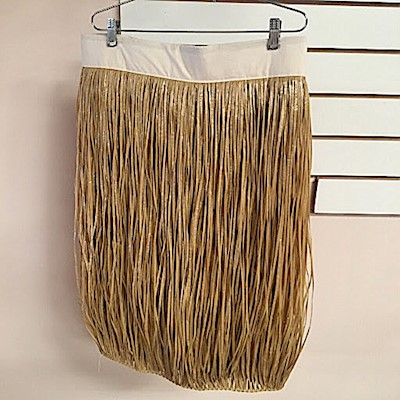 BANDED ARTIFICIAL SKIRT IN WHEAT