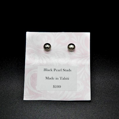 TAHITIAN JEWELRY: PEARL EARRINGS
